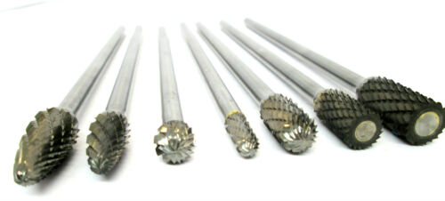 US PRO Tungsten Carbide Burr Rotary Files 7pc Extra Long Set Hole Enlarger 2631