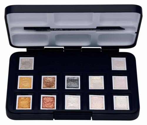 ROYAL TALENS Aquarellfarbe Van Gogh Metallic 12er Box