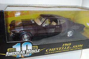 1: 18ème 1968 Chevrolet Chevelle Ss396 Marron Rouge Lmtd.ed # 36382