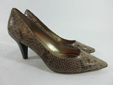 Anne Klein iflex Women Shoes Size 10 M Cakewalk Heel Pumps Leather Snake Print