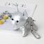 thumbnail 11 - French Bulldog Keychain Pompom Key Ring Cute Holder Bag Charm Keyfobs Gift YU