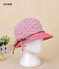Bohemia Cap Women's Elegant Brim Summer Beach Bowknot Bowler Sun Hat Billycock