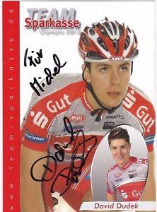 CYCLISME-carte-cycliste-DAVID-DUDEK-equipe-TEAM-SPARKASSE-signee