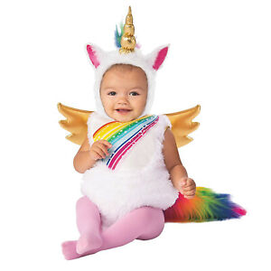 Baby-Toddler-Girls-Rainbow-Unicorn-Pegasus-Halloween-Birthday-Costume-Gold-Wings