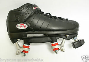 Riedell-BLACK-R3-quad-skates-PowerDyne-Thrust-Kwik-bearing-with-out-wheels