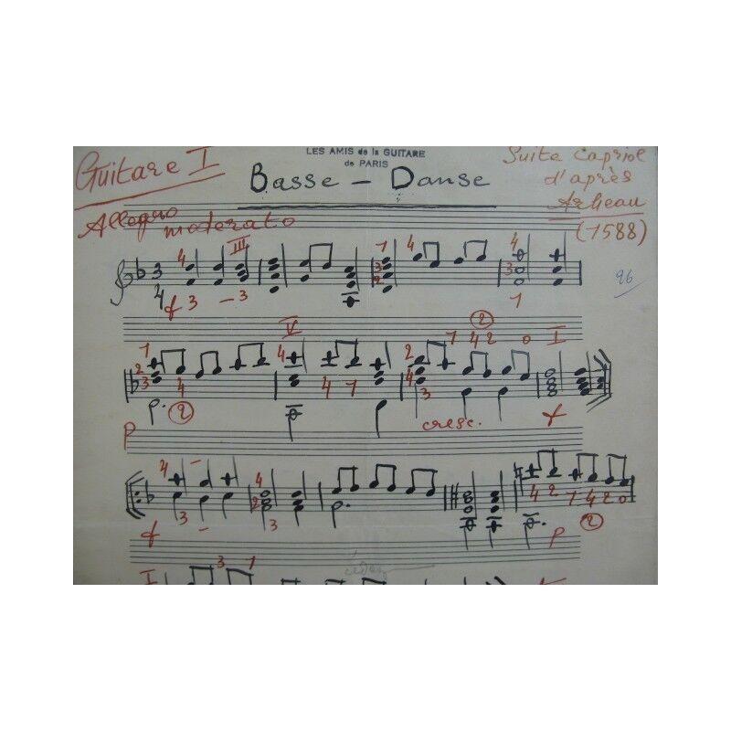 MAZMANIAN Vrouyr Suite Caprice d'après Arbeau Guitare 1947 partition sheet music