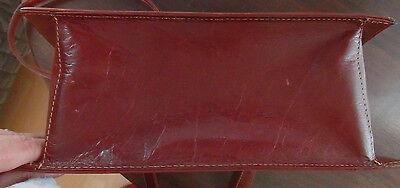 echte Ledertasche braune Henkeltasche Leather Neuwertig Magnetverschluß