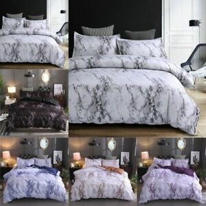 Modern-Duvet-Doona-Quilt-Cover-Set-3Pcs-Marble-Printed-Bedding-Set-Queen-King