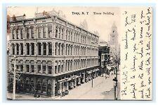 Troy NY New York Times Building UDB Postcard 1907 Rensselaer County Paul Koeber