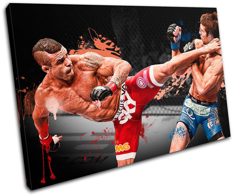 MMA Vitor Belfort  arte Sports SINGLE LONA pared arte  Foto impresion 56e8ea