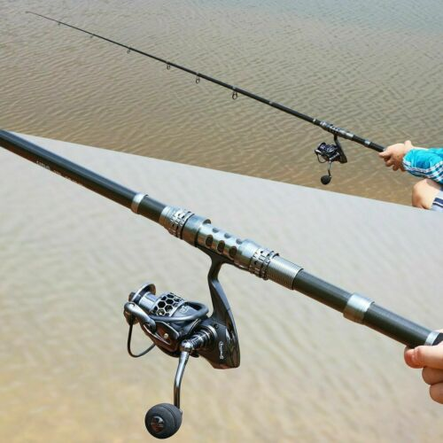 Cana De Pescar Giratoria Y Carrete Combos Telescopico Portatil De Pesca Po L