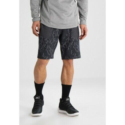"Under Armour Men/'s Persuit 10/"" Shorts Black-Grey Marl   BNWT M+XXL"