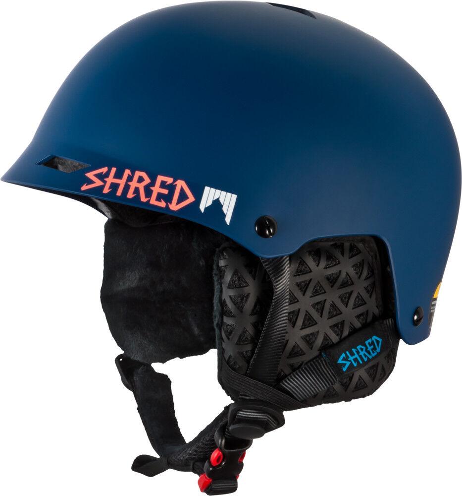 Shrouge Casque de Ski Snowboard Demi Brain D-Lux Barre D' Appui bleu Marine Léger