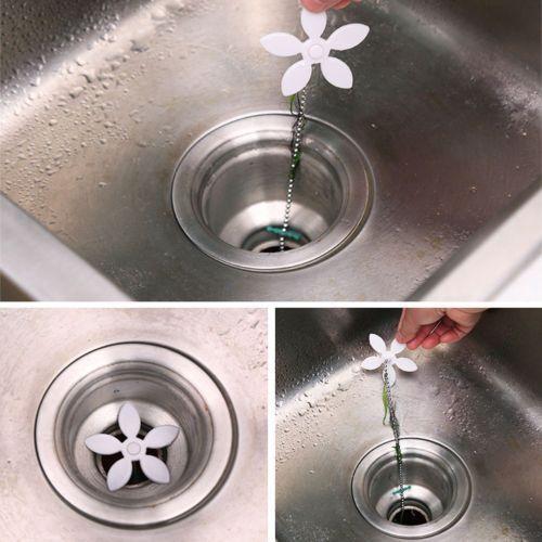 NEW Sink Cleaner Catcher Shower Blockage Bathtub Drain Chain Hair Clog Remover