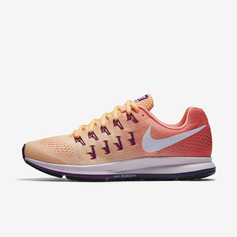 FEMMES Nike Air Zoom Pegasus 33 Chaussures Pointure 5.5 Pêche Crème Mango 831356