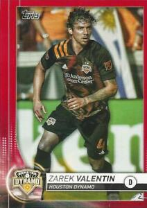 2020 Topps Major League Soccer Base Common Red Parallel Numbered to /10 (20-38)