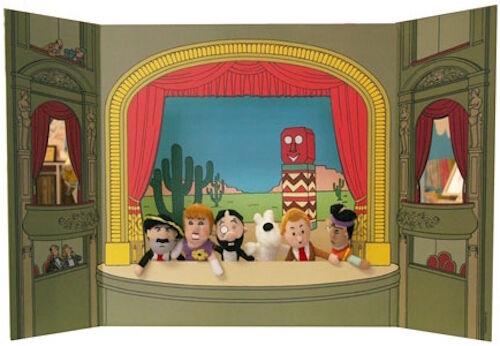 Tim moulinsart herge vintage 35113 theater und fingerpuppen