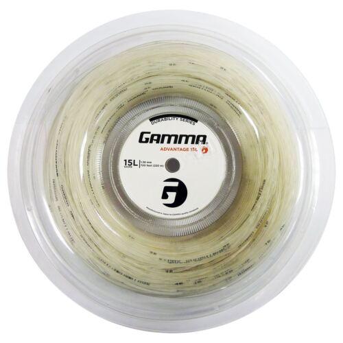 GAMMA Advantage 15L Tennis Racquet Racket String Reel 220M/720ft Reel - White