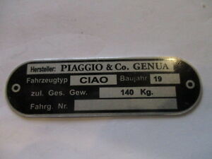 Id-Nameplate-Data-Day-Ciao-Piaggio-Genua-Genova-Vespa-Moped-S53