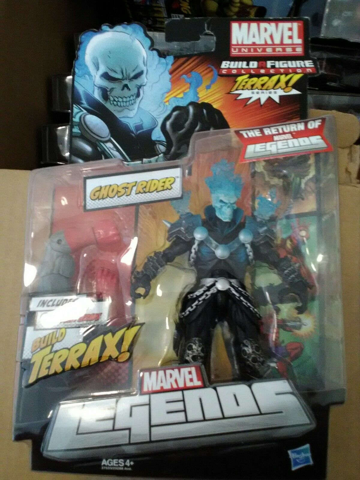 Marvel - legenden ghost rider blaue variante - hasbro terrax wave - mip