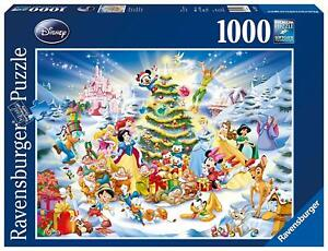RAVENSBURGER-CHRISTMAS-PUZZLE-1000-TEILE-DISNEY-039-S-WEIHNACHTEN-RARITAT-OVP