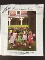 Chery Williams Basic Square Yoke Girls Dress Heirloom Sewing Pattern 6 Mo To 5