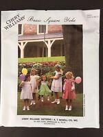 Chery Williams Basic Square Yoke Girls Dress Heirloom Sewing Pattern 6 Mo To 5