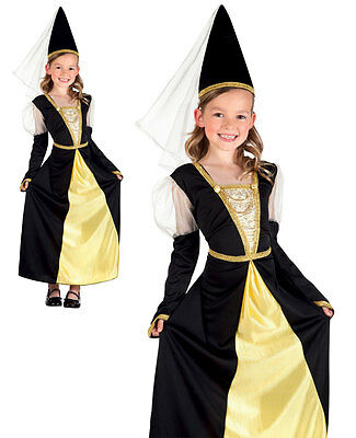 GIRLS ANGLO SAXON MEDIEVAL COSTUME LADY QUEEN MARION FANCY DRESS AGE 8-10 NEW