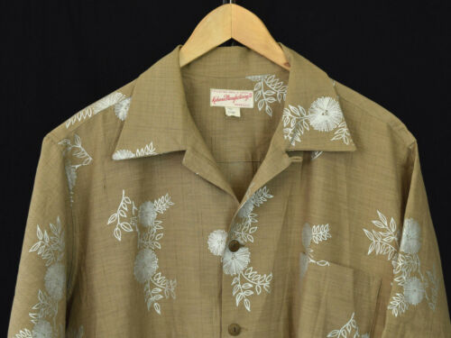Vtg 50s Kahana Manufacturing Co. Hawaiian Shirt -L