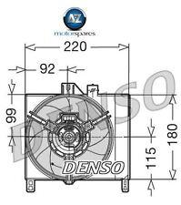 Para Smart Cabrio Fortwo 0,6 me 0,7 me 2000-2007 Nuevo radiador ventilador de refrigeración 0003127v007