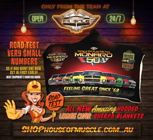MONARO-50TH-ANNIVERSARY-SHERPA-ADULT-SUBLIMATED-HOODED-BLANKET-LOW-STOCK