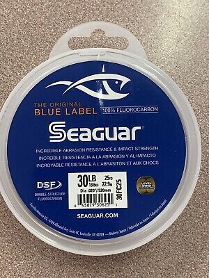NEW Seaguar Blue Label 25 Yards Fluorocarbon Leader 30 Pounds FREE SHIPPING