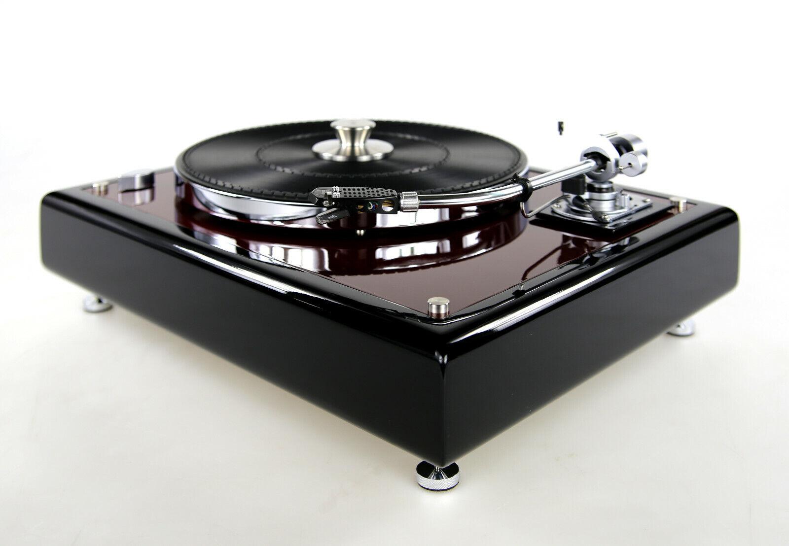 Image 01 - Restored Thorens TD160 Turntable Black Bordeaux Red Met. & SME 3009