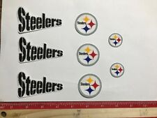 8 Pittsburg Steelers Fabric Applique Iron On Ons Set 3