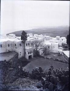 Maroc-Algerie-Tunisie-ou-Espagne-NEGATIF-Photo-Stereo-Plaque-Verre-c1900