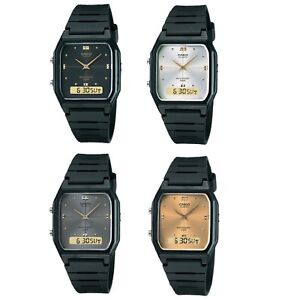 Casio-AW-48HE-Series-Black-Silver-or-Gold-Dual-Time-Unisex-Digital-Analog-Watch