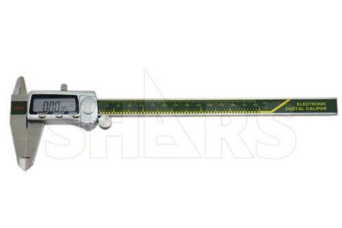 "SHARS 8/"" 200MM INCH METRIC FRACTIONAL DIGITAL ELECTRONIC CALIPER NEW"