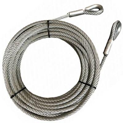 verzinkt /Ø2mm // 50kg Nutzlast 0,5m Stahlseil mit Kauschen Drahtseile24 Drahtseil mit Kauschen Stahlseil mit /Ösen Anschlagseil
