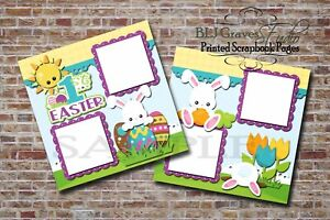 1st-Easter-Bunny-2-PRINTED-Premade-Scrapbook-Pages-Boy-Girl-Baby-BLJgraves-12