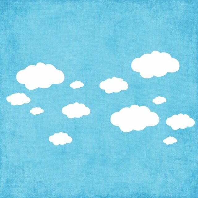 Cloud wall decals Removable stickers home DIY Vinyl decor kids nursery mural