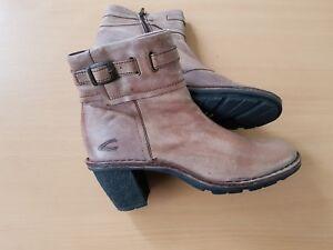 Details zu Camel Active Damen Pumps Soft walk Stiefel Boots kakki braun Gr. 5 38