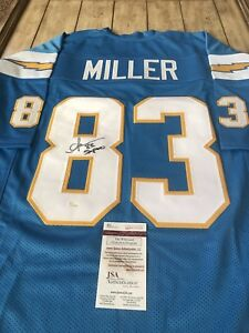 new style 09c2d 928ae Details about Anthony Miller Autographed/Signed Jersey JSA COA San Diego  Chargers Pro Bowler