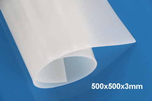"3mm Thickness 50x50cm//20/""X20/"" Silicone Rubber Sheet Plate Mat High Temp Resist"