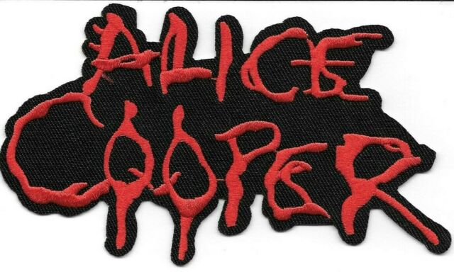 ALICE COOPER PUNK ROCK HEAVY METAL MUSIC IRON SEW ON EMBROIDERED PATCH#575