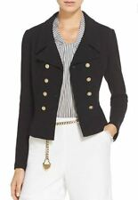 NWT St. John Collection Nouveau Boucle Knit Spencer Jacket in Caviar Size 16