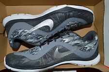 New Nike Womens Flex Trainer 6 Print Running Shoes 831578-001 sz 9 Black Camo