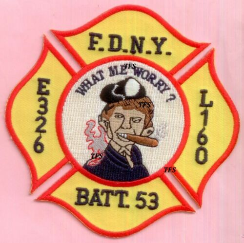 New York City Fire Dept Engine 326 Ladder 160 Battalion 53 Patch