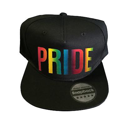 Gay Pride Rainbow Printed Flat Bill Baseball Caps Men Womens Snapback Cap