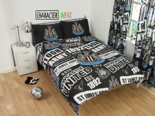 Neuf Newcastle Utd double couette couverture Set Garçons Enfants Football Chambre Cadeau