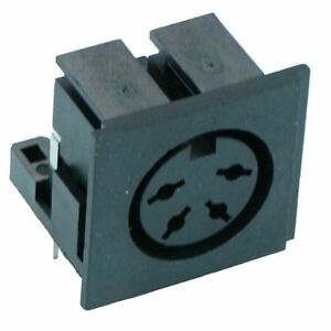 4-Way PCB DIN Socket Audio Connector